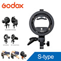 PRO Godox S-Type Bracket Bowens S Mount Holder for Speedlite Flash Snoot Softbox Beauty Dish Reflector Photo Umbrella Honeycomb
