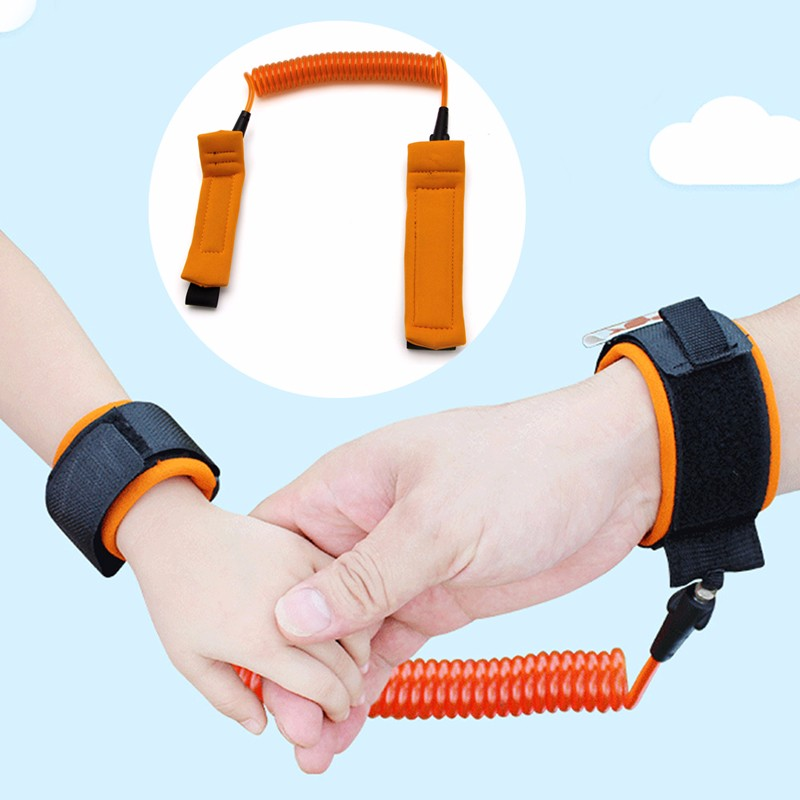 New Arrive 1Pc 2.5M Anti-lost Children Tow Rope Belt Spring Security Baby Wrist Strap Safety