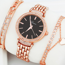 3 sztuk zestaw luksusowe kobiety różowe złoto zegarek bransoletka serce elegancki diament zegarek kwarcowy Multicolor biżuteria panie zegarek na co dzień tanie tanio QUARTZ Stop Hook buckle Nie wodoodporne Moda casual Odporny na wstrząsy G-024J 14mm 19 5 cm 35mm Papier Hardlex Okrągły