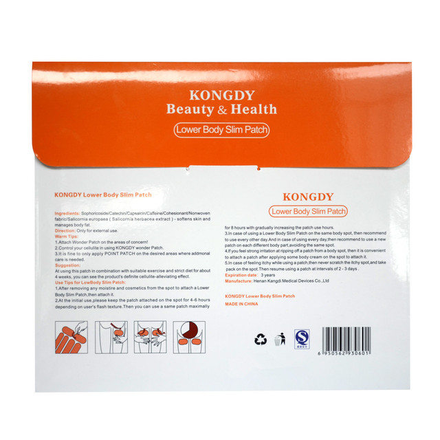 KONGDY Brand Lower Body Slim Patch 30 Pieces /Box Leg Slim Pad Body Weight Loss Plaster Fat Burning Patches Natural Ingredients 5