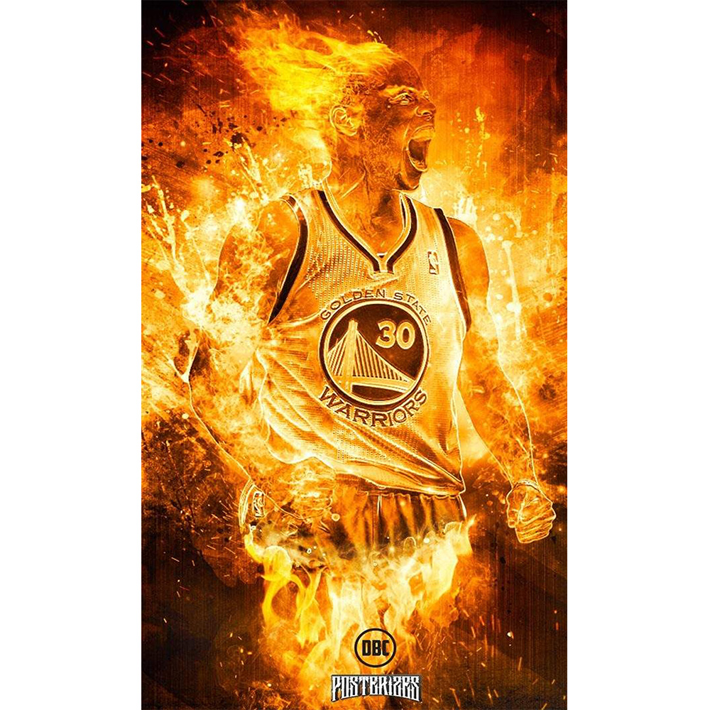 NBA Stephen Curry Basketball Player Poster Art Silk Print Poster For ...
