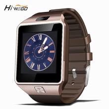 Smart Watch Часы С Сим Слот Для Карт Нажмите Сообщение Подключение Bluetooth Android Телефон Лучше, Чем Smartwatch DZ09 Мужчины Смотреть