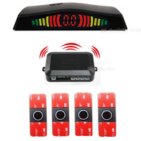 New LED Display Wireless Parking Sensor Kit 4 Sensors Auto Car Reverse Assistance Backup Radar Monitor System detector radar