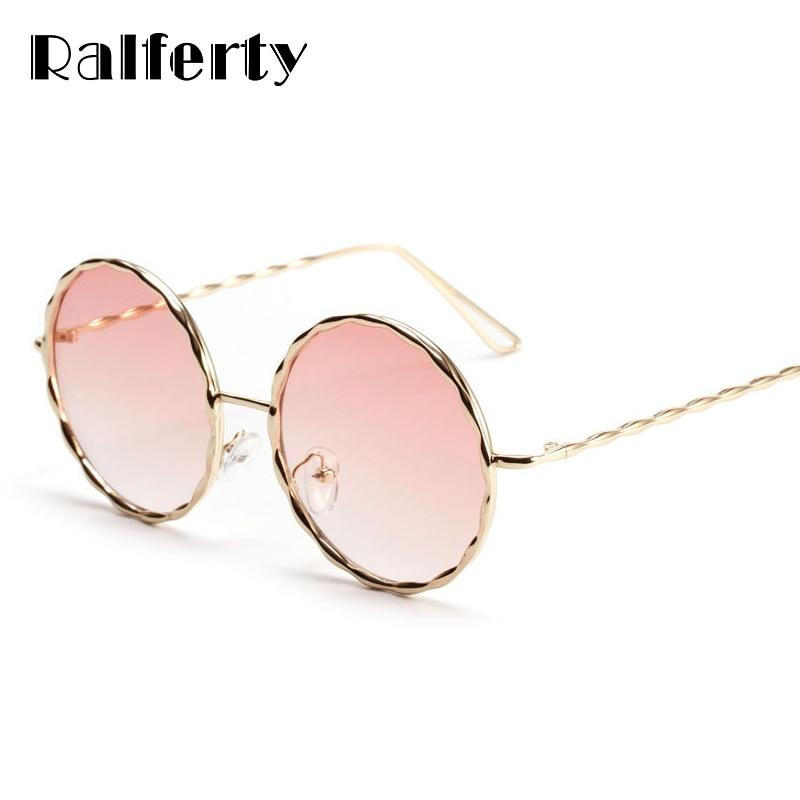 ae5d6d1cb65 Ralferty Retro Round Sunglasses Women Pink Gradient Sun Glasses Female  Circle Shades Vintage Sunglass feminine Oculos