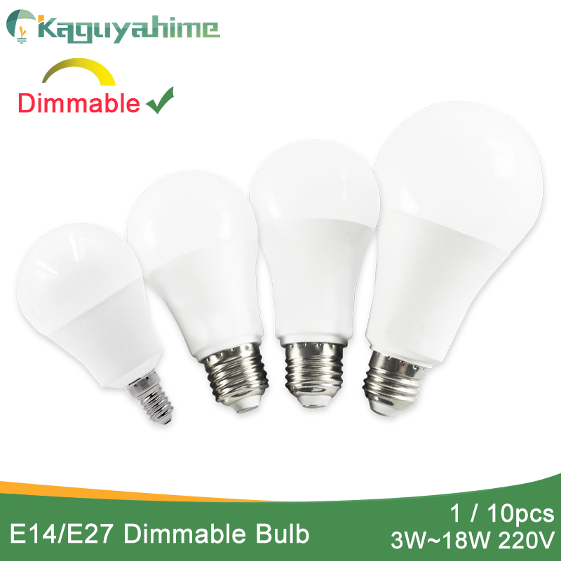 Kaguyahime 1pc/10pcs Dimmable E27 LED Bulb LED Lamp 220V E27 E14 Bulb Light 3W 5W 6W 9W 12W 15W 20W Lampada Bombilla Ampoule LED