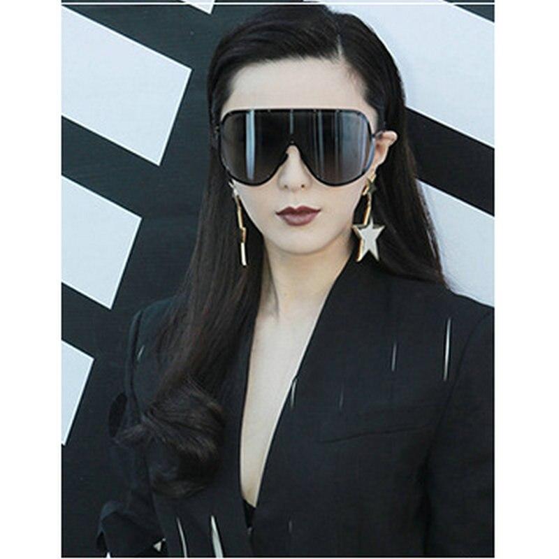 20ac47cc0c51 MINCL  Polarized Luxury Oversized Sunglasses Women Men Brand Designer  Rimless Large Goggle Sunglasses Driving Gafas