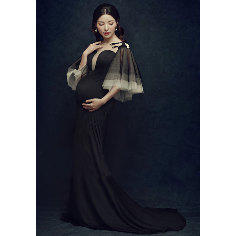 Long Trailing Dress Maternity Photography Props Pregnancy Dress Photography Maternity Dresses For Photo Shoot Vestidos Pregnant недорго, оригинальная цена
