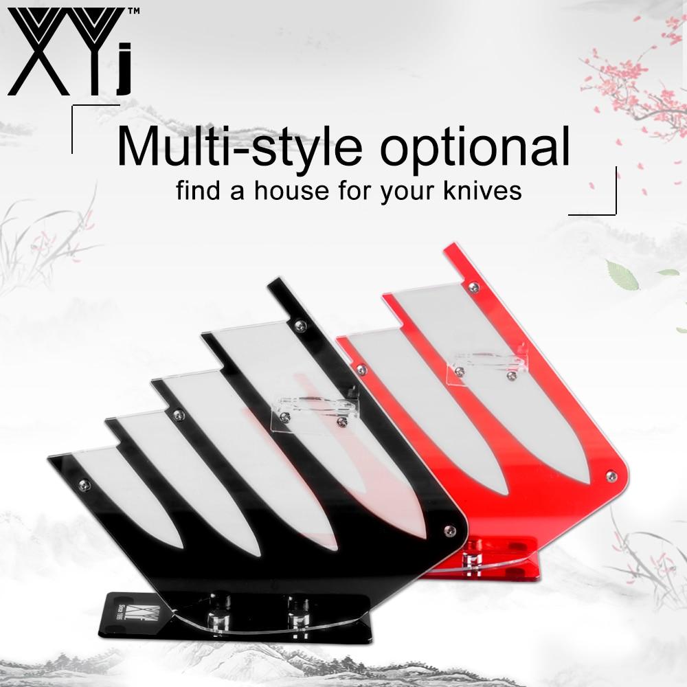 XYj Ceramic Kitchen Knife Holder Durable Acrylic Kitchen Knive Stand Fashion Kitchenware Professional 4Pcs/5Pcs Knives Set Block
