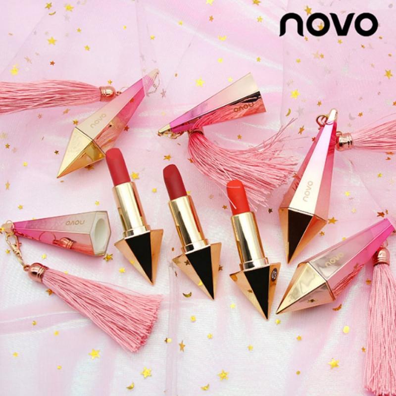 Matte Lipstick 6 Colors Velvet Nude Red Lips Stick Korean Pink Diamonds Cosmetics Kit Wate