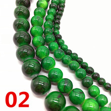 Charm Jewelry-Making-Accessory Loose-Spacer Glass Beads-Pattern DIY Green Chic NEW 4/6/8/10-mm