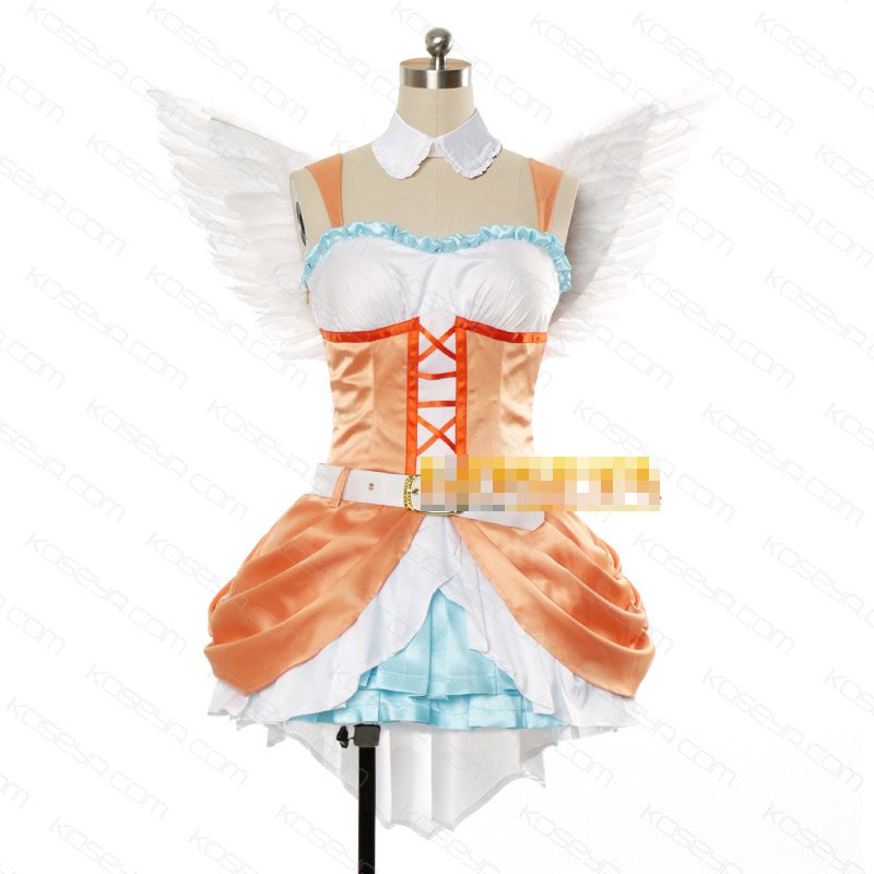 Love Live! Koizumi Hanayo Insert Song 6th Customized Uniforms Cosplay Costume Free Shipping + Wings
