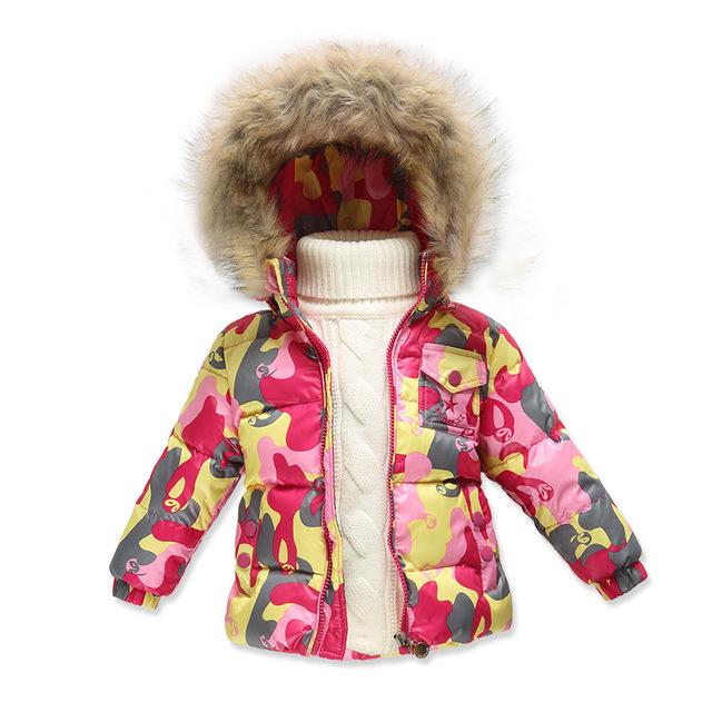 Alta calidad 2016 Niños de La Manera outwear Pato Abajo Chaquetas y abrigos niños Bebés niñas Invierno Espesada Keep warm Abrigos