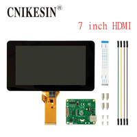 CNIKESIN Raspberry pie official 7 inch HDMI touch screen 10 Capacitance touch LCD screen Support the raspberries pie 3B/2B/B+