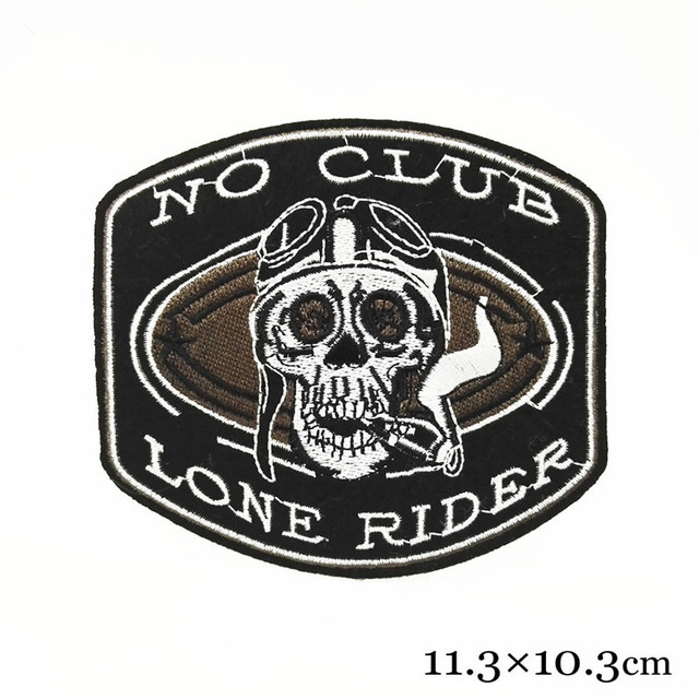 No club lone wolf patch badge hot rod motorcycle rockabilly retro.
