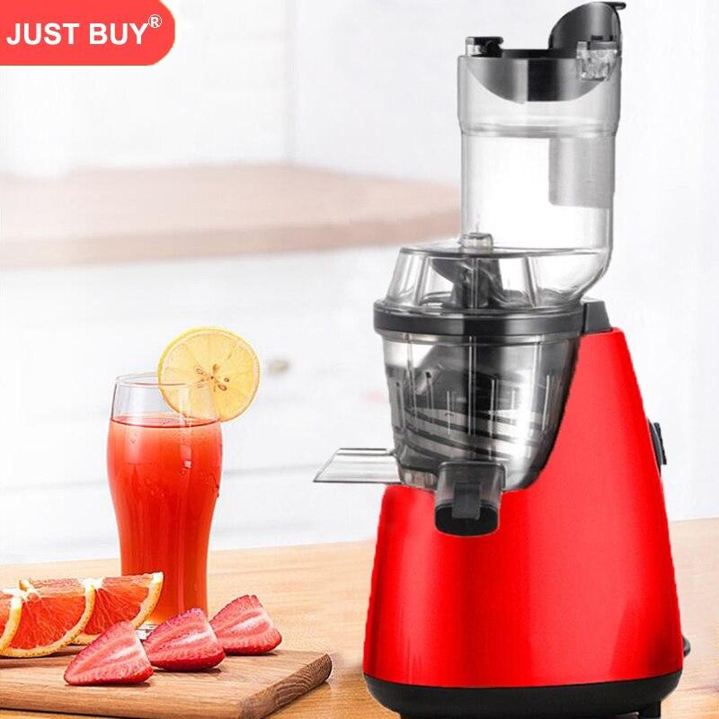 Orange Slow Juicer Fruit Vegetable Citrus Low Speed Juice Extractor wide mouth smart juice extractor 220v slow juicer for fruit vegetable citrus