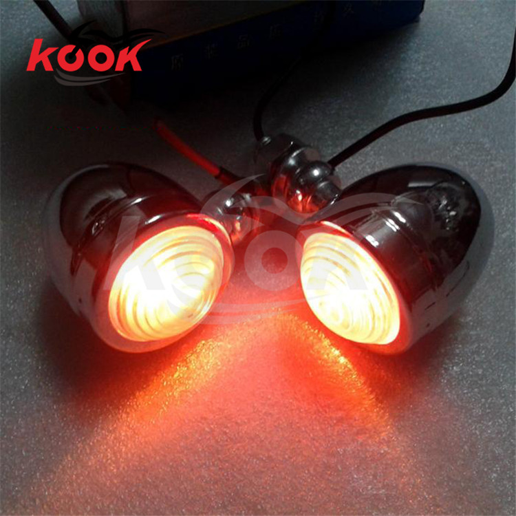 chrome LED motorcycle Turn signal Indicator harley motorbike turn signals Indicator light for Harley Davidson flasher lighting