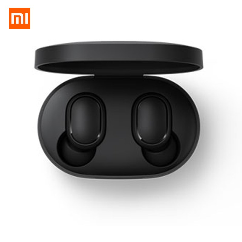 Tüketici Elektroniği'ten Bluetooth Kulaklık & Kulaklıklar'de Xiaomi Redmi Airdots TWS Bluetooth kulaklık Stereo bas BT 5.0 Eeadphones Mic ile Handsfree kulaklık AI kontrolü title=