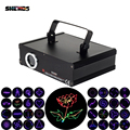 SHEHDS 1000mW RGB Laser Scan Pattern Light DMX DIP Animation Scan Projector Disco Party DJ Show Beam Moving Ray Stage Lighting