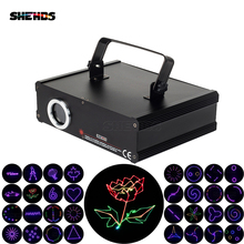 цены SHEHDS 1000mW RGB Laser Scan Pattern Light DMX DIP Animation Scan Projector Disco Party DJ Show Beam Moving Ray Stage Lighting