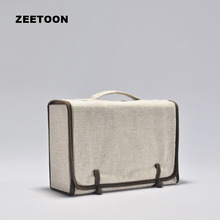 Japan Style Portable Outdoor Travel Teaware Storage Bag Linen Tea Set Bag for Kung Fu Tea Set Quick Cup Teacup Package Handbag
