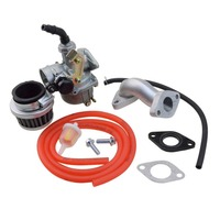 Goofit 19mm Racing Carburetor Air Filter Assembly Intake Pipe Gasket Fuel Hose SUNL Line 50cc 125cc