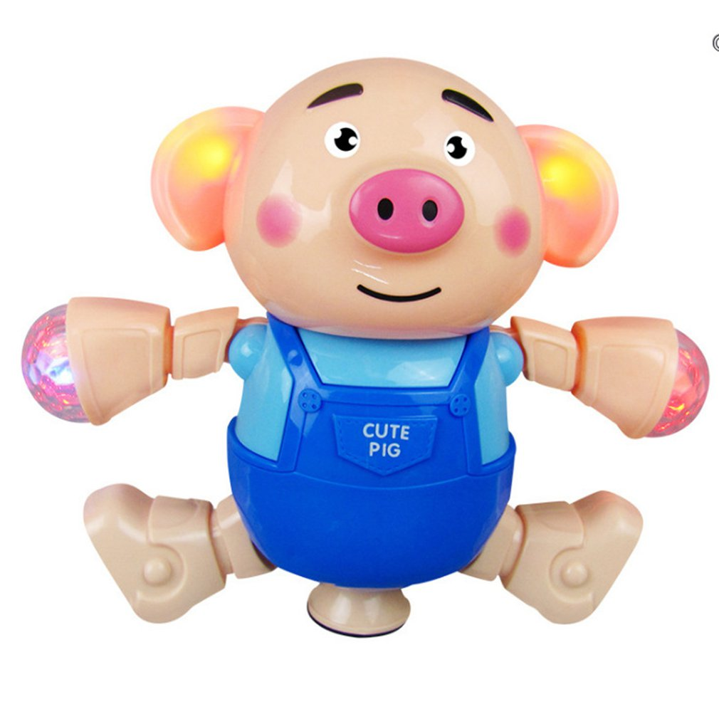1pcs Cute Seaweed Dancing Pig Singing Walking With Light Kids Electronic Vocal Toys Boys Girls Gift Interactive Development Toy
