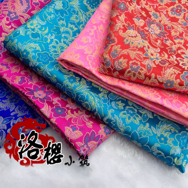 Brocade Costume hanfu formal dress baby jacquard clothes kimono cheongsam advanced cos clothes woven damask fabric small flower