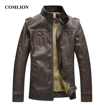 Fashion Design Zipper Coats Washed PU Leather Jacket New Mens Autumn Overcoat Faux Soft Leather Coat Warm Oversized Outwear D4