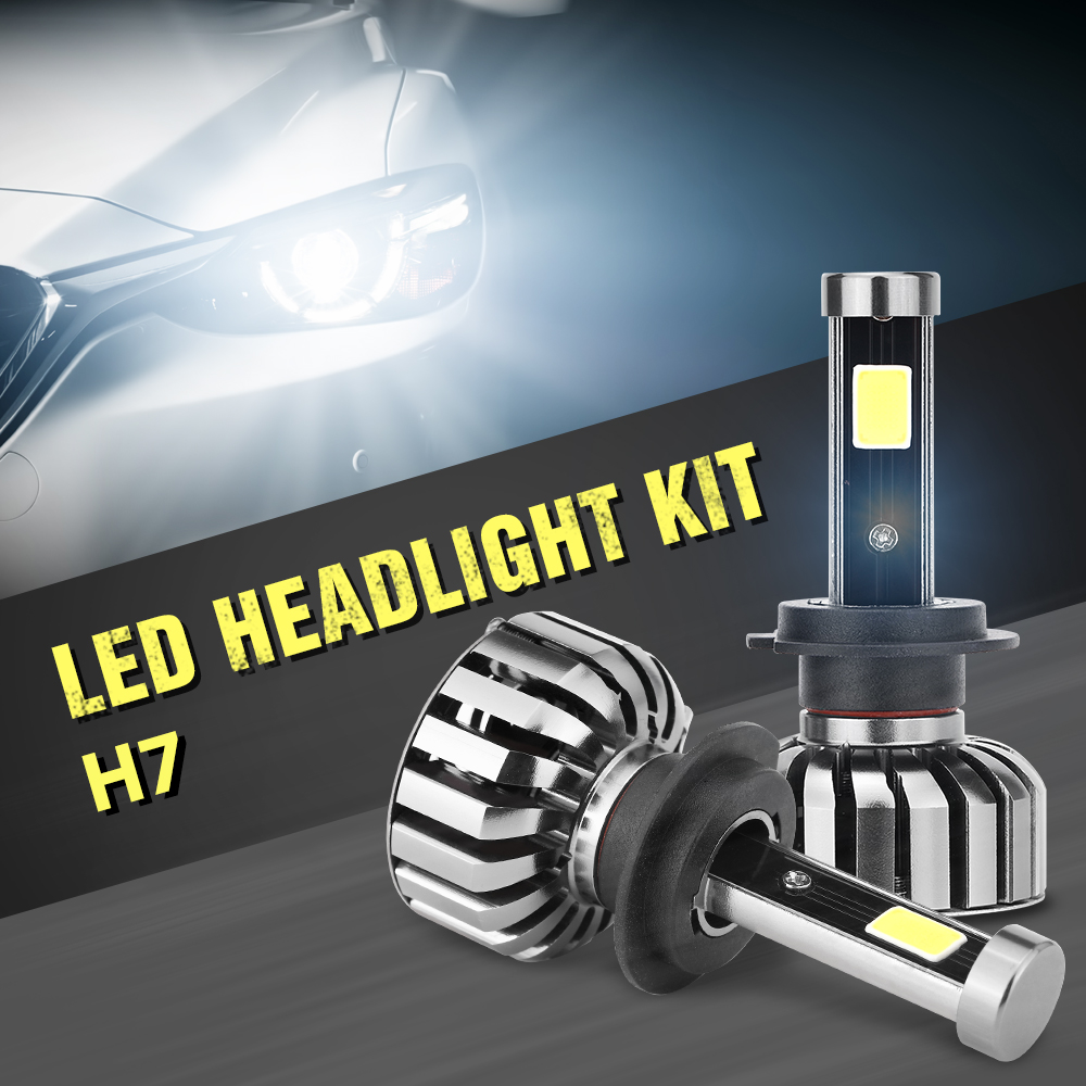 High Power H7 LED Car Headlight Super Bright H1 H27 H11 HB3 9005 HB4 9006 Automobile LED HeadLight 80W 8000lm/Pair White