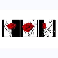Đen Trắng Red Rose Sơn Kim Cương Cross Stitch Đính Cườm 3 cái Đầy Đủ Vòng Kim Cương Thêu Handmade Vá Trang Trí Tường RT21