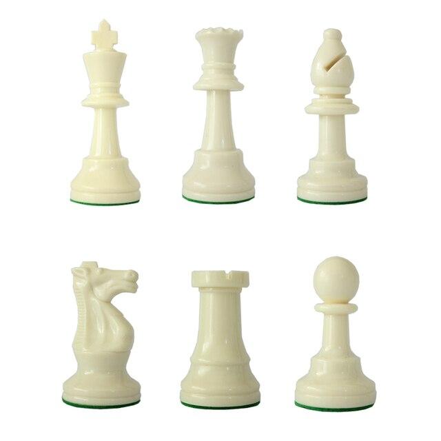 Jeu d'échecs Standard International, compétition King de 97mm, grand jeu d'échecs en plastique avec 4 jeux de société queen qenueson 2