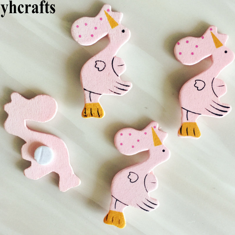 Wall Fridge Stickers Early Learning Toys Ornament Oem Making Things Convenient For The People Toys & Hobbies 10pcs/lot,pink Bird Wood Stickers Spring Easter Crafts Scrapbooking Kit
