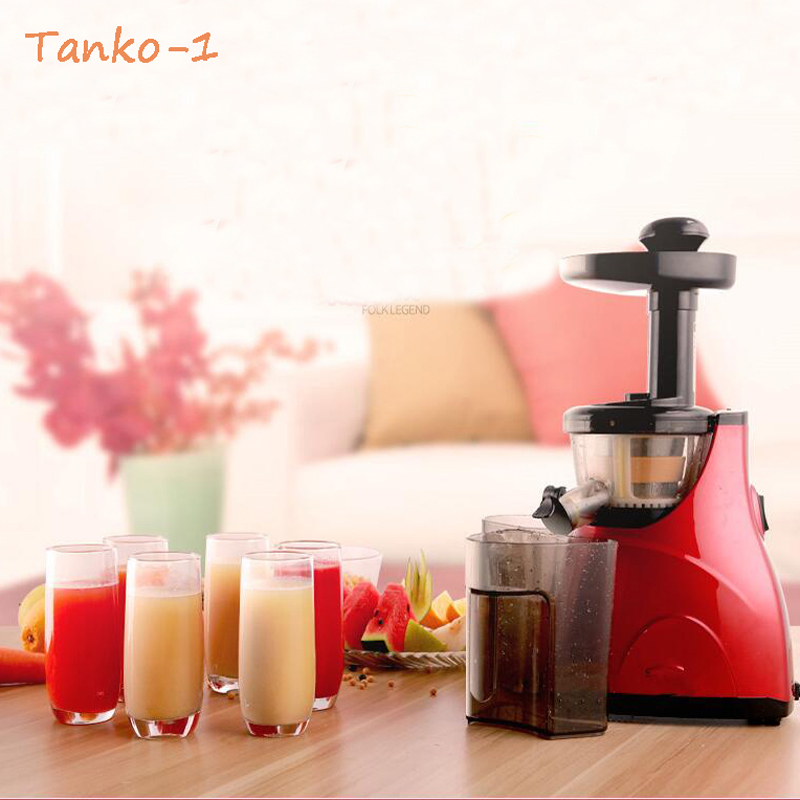 2016 Tanko-1 Stainless Steel Automatic Slow Juicer Electric Fruit Juice Machine Cold Press Extractor Squeezer Home use