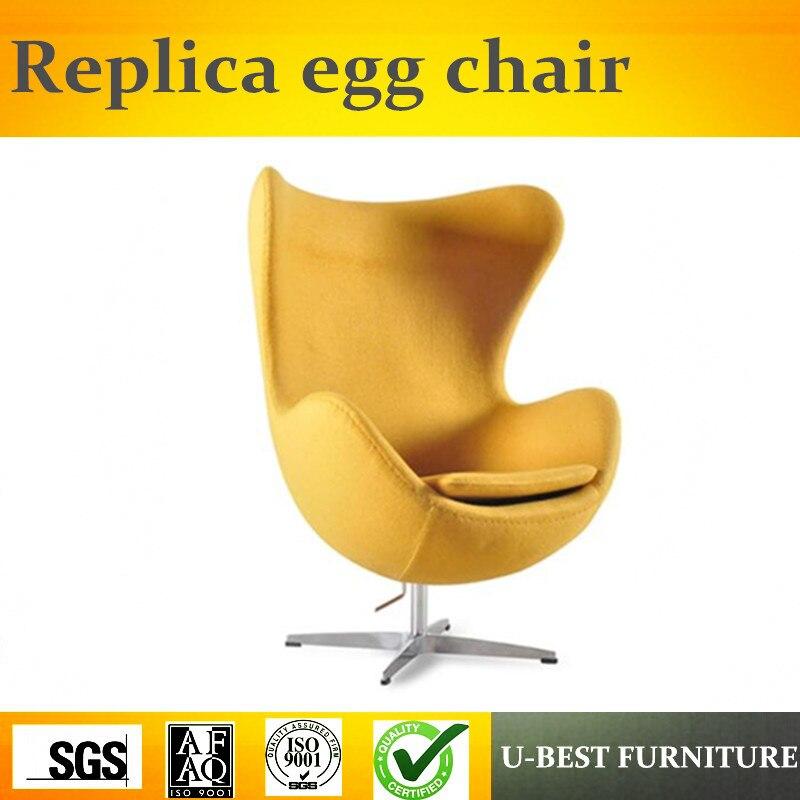 U-BEST Replica Arne Jacobsen Cadeira Do Ovo de Alta Qualidade, Tecido de Luxo Sala de estar Sala de Estar Mobiliário de Lazer Cadeira Do Ovo