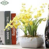 人工花ダンス蘭花2分枝小枝結婚式装飾植物家の装飾工芸ルームテーブル