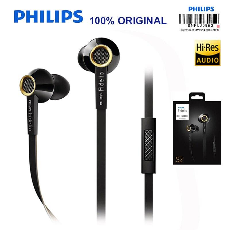 D'origine PHILIPS S2 HIFI Casques Haute Résolution avec la Commande de Fil Blé In-Ear Écouteur Soutien Test Officiel