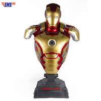 Avengers:Infinity War Superhero Iron Man MK 43 Half Length Portrait With LED Light 1/1 Statue Action Figure Model Toy X610