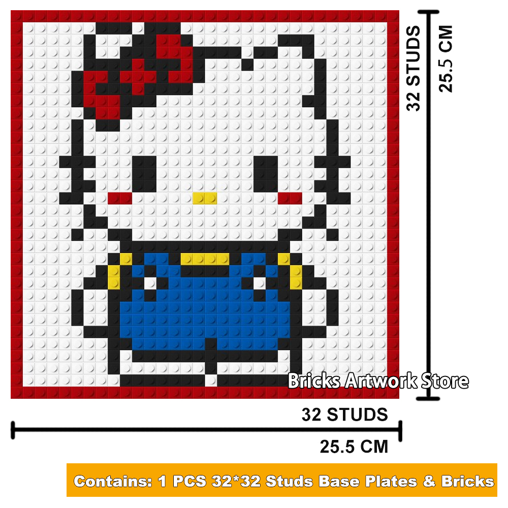 Us 1599 3232 Plate Pixel Art Mosaic Painting Set Diy Cartoon Figures Little Dog Cute Cat Portrait Building Blocks Toy Creative Gift In Blocks From