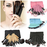 Vander 4sets 96Pcs Professional Soft Cosmetic Shadow Eyeliner Foundation Powder Beauty Makeup Brush Set Kit Pouch