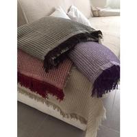 Bedspread Plaid Multi Purpose Carla maroon shirt 230X260