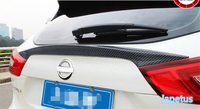 Lapetus For Nissan Qashqai J11 2014 2018 ABS Effect Spoiler Tailgate Rear Trunk Lid Cover Trim Kit / ABS Carbon Fiber Style