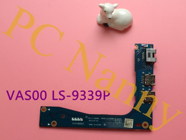 ФОТО Genuine original For DELL ALIENWARE 17 M17X R5 R1 USB 3.0 board ethernet board VAS00 LS-9339P