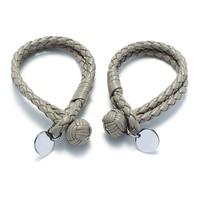 Brand Design Hand knitted Sheepskin Leather Bracelet Men Women Charm Bracelet Bangle Simple and Generous Design Knot Bracelet