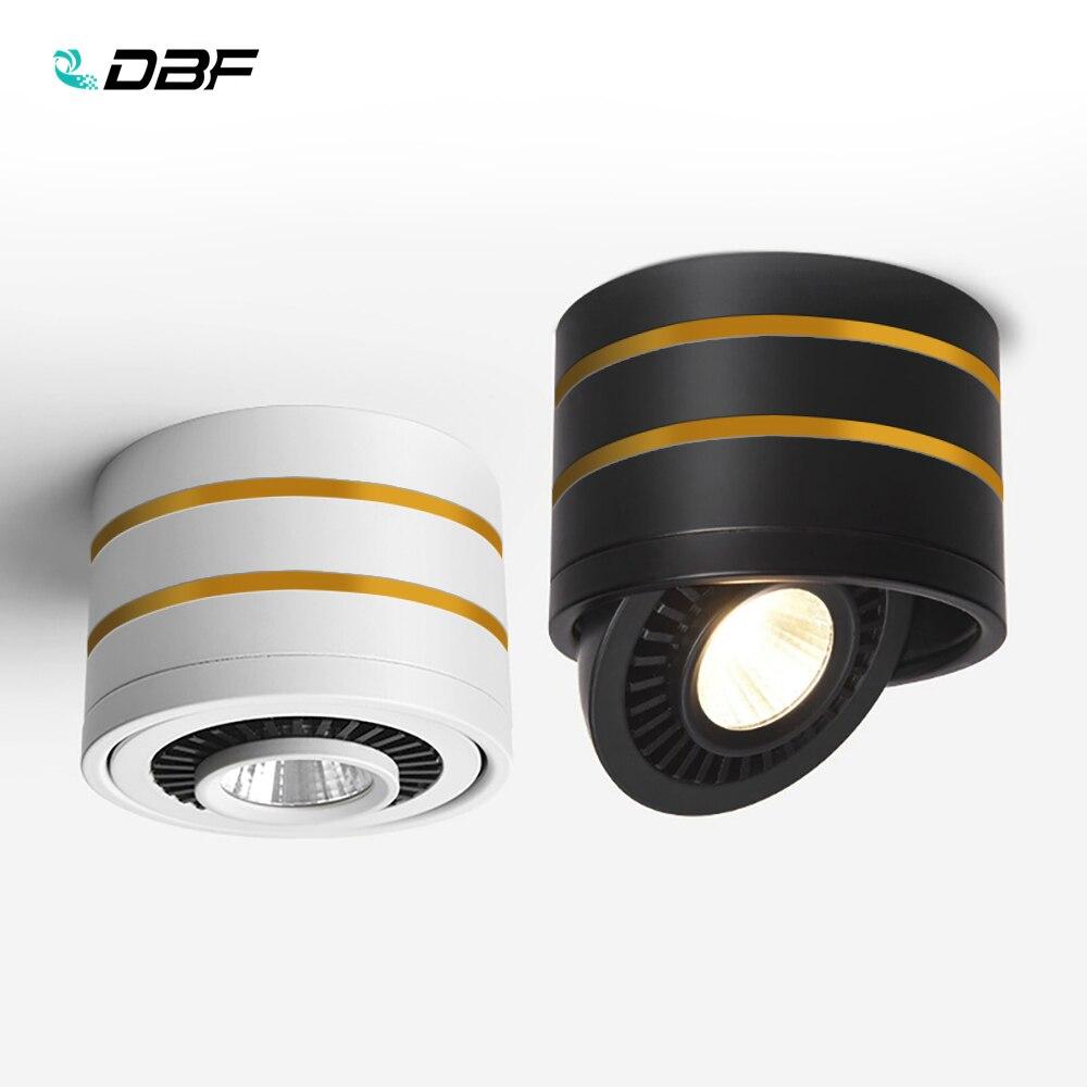 [DBF]LED Oberfläche Montiert Decke Licht 5W 7W 9W 15W Dimmbare Decken Lampe 360 grad Drehbare COB Hintergrund Decke Spot Licht