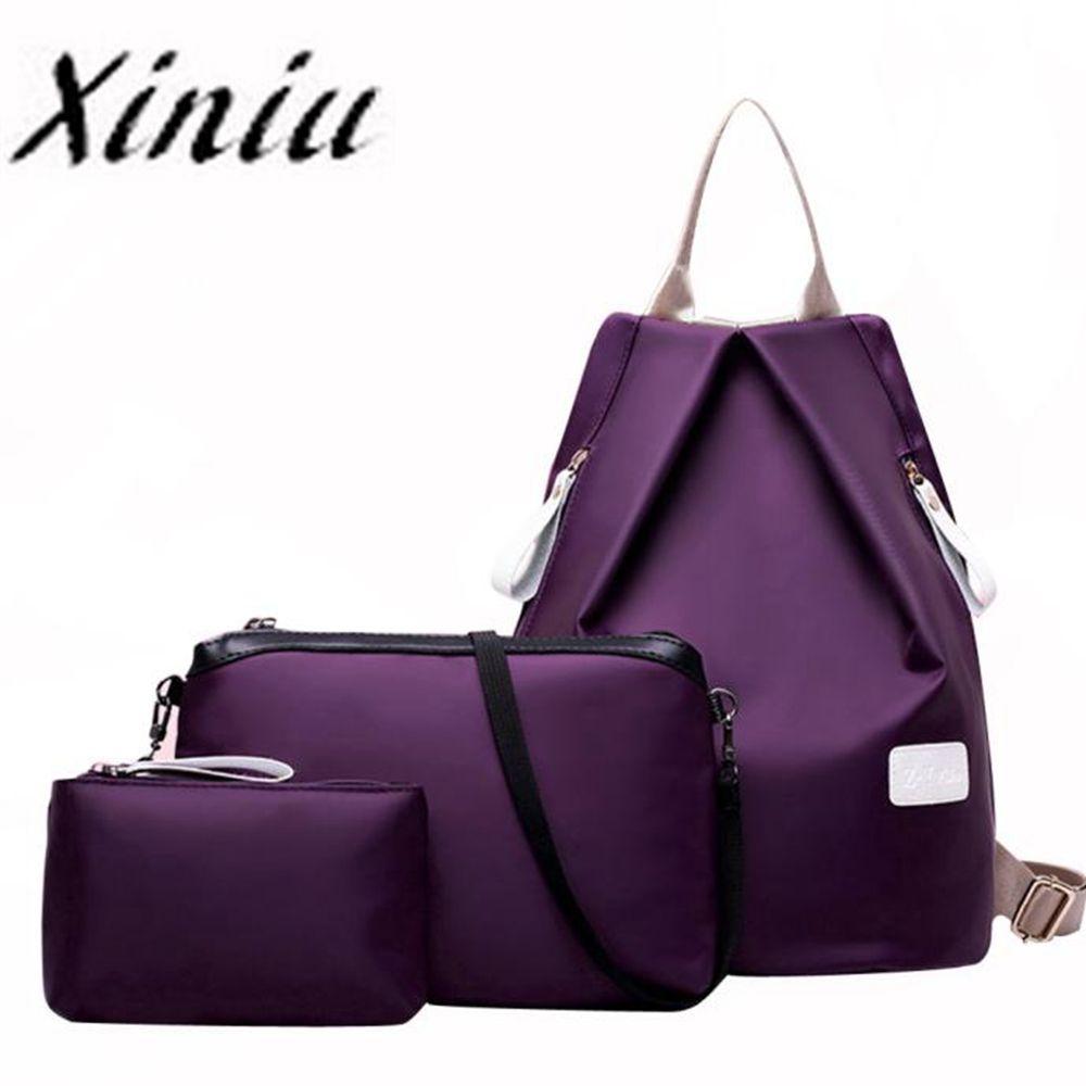 Backpack Three Pieces Shoulder Bag Super Quality Mochila Feminina Sac A Dos Femme #Yl