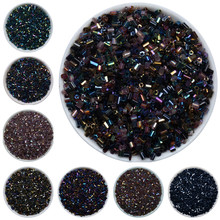 1000pcs/lot DIY Beads For Jewelry Making 2mm Silver Lined Bugle Czech Glass Seed Spacer Beads Austria Crystal Long Tube 1020pcs lot 2mm czech cylindrical glass tube bugle beads diy bracelet necklace loose beads for jewelry making accessories