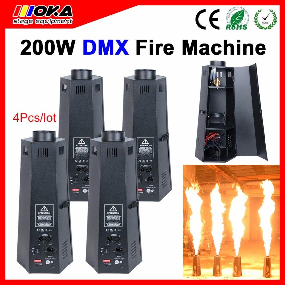 4 Pcs/Lot Étape Machine De Pulvérisation De Flamme feu machine stade effet DMX Feu Machine pour la Scène, Bar, Fête, de mariage