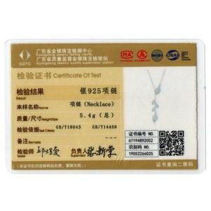Image 5 - Женское Ожерелье в форме листа bamoer, свадебное ожерелье из серебра 925 пробы с прозрачным кубическим цирконием, BSN075