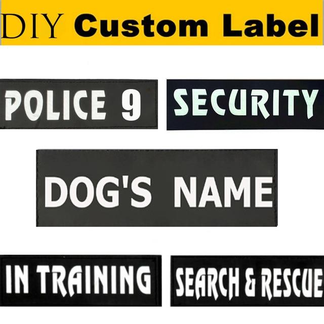 2pcs custom dog s name pet harness collar leash label personalize