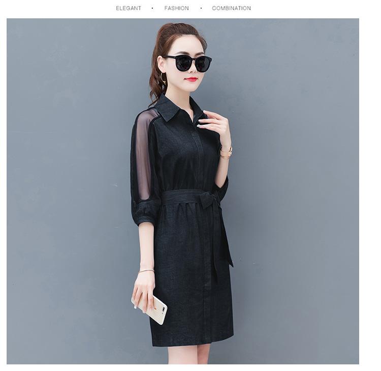 Dress female spring and autumn 2019 new fashion commuter slim strapless denim dress tide vestido Q280 22